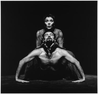 Casarès et Béjart dans «La Nuit obscure» © B. Réquillart